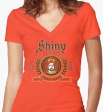 Shiny Bock Beer Women's Fitted V-Neck T-Shirt