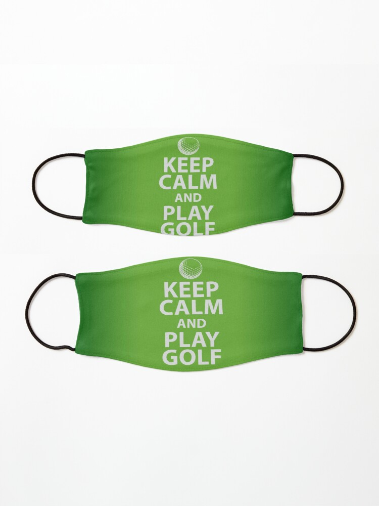 Alternate view of Keep Calm and Play Golf Mask