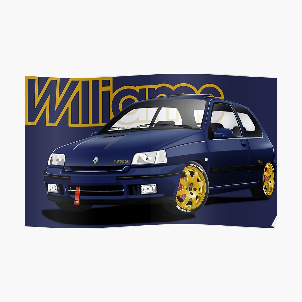 Birthday Christmas Gift Renault Clio Williams Funny Offensive Coaster