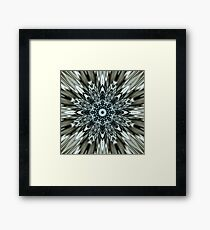 Metallic Implosion Framed Print