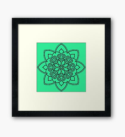 Simple Swirl Mandala Framed Print