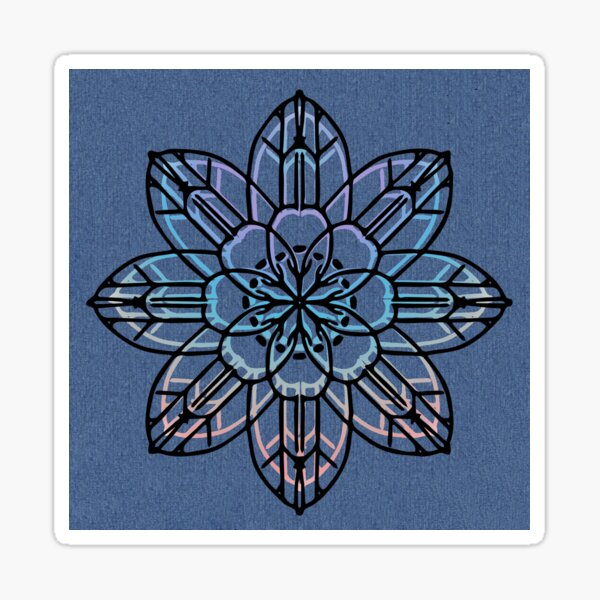Denim Boho flower Sticker