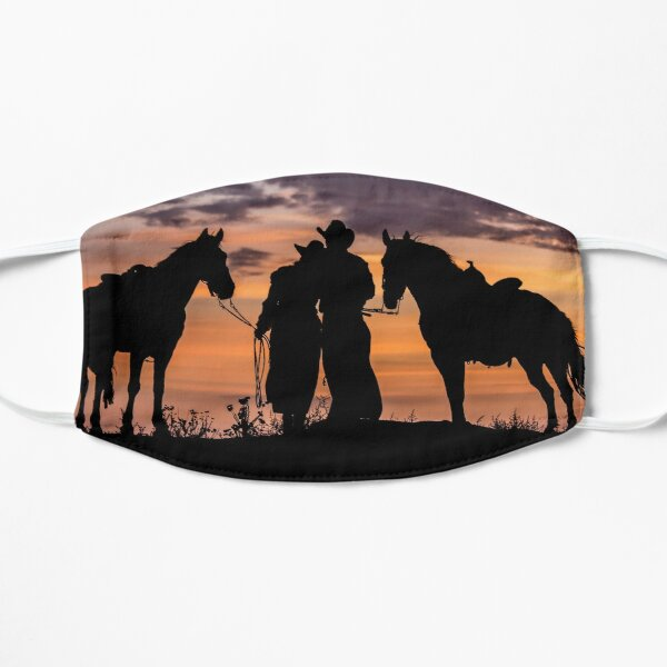 Cowboy, Cowgirl Sunset  Mask