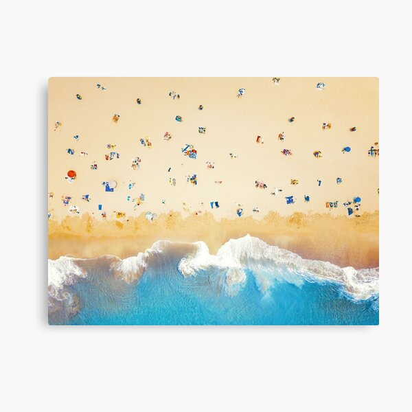 Beach Colours   Aerial Drone Photography  Canvas Print
