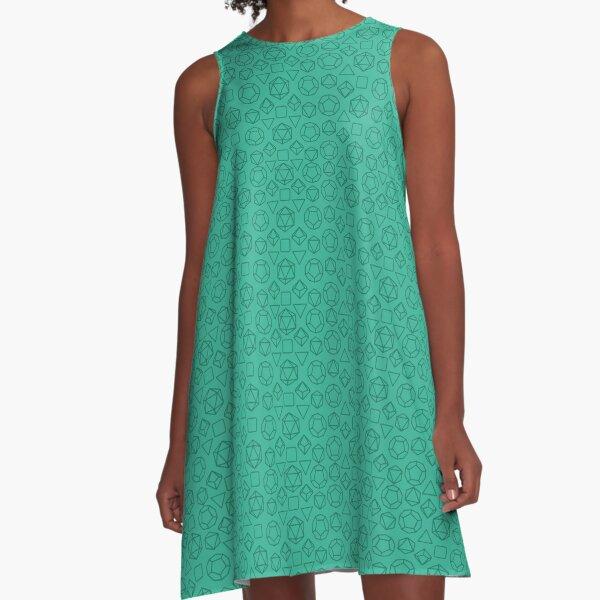 Green Dice - Pattern! A-Line Dress