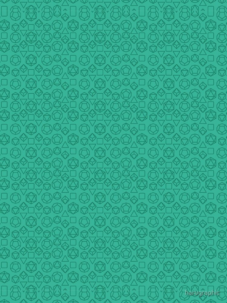 Green Dice - Pattern! by harugraphic