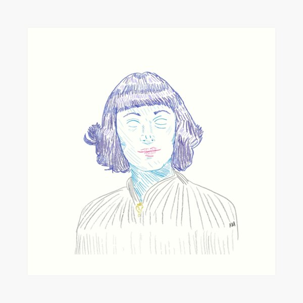 2020 05 07 Portrait in Color Ursula  Art Print