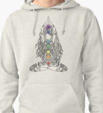 Yoga Om Chakras Mindfulness Meditation Zen 1 Pullover Hoodie