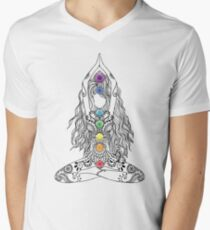 Yoga Om Chakras Mindfulness Meditation Zen 1 Men's V-Neck T-Shirt