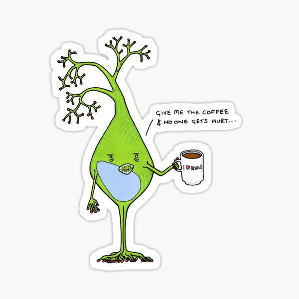 Koffeinhaltiges Neuron Sticker