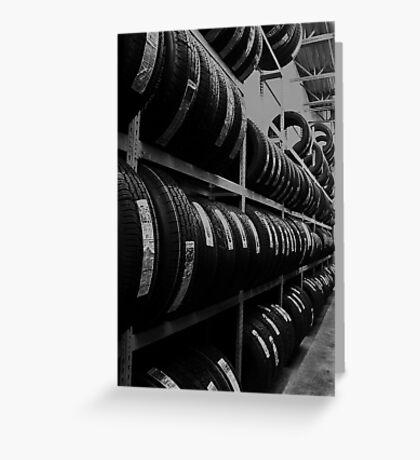 Tire Rack Greeting Card