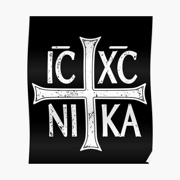 IC XC NI KA Jesus Christogram Cross Orthodox Eastern Christian Graphic Poster