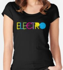 ELECTRO Women's Fitted Scoop T-Shirt