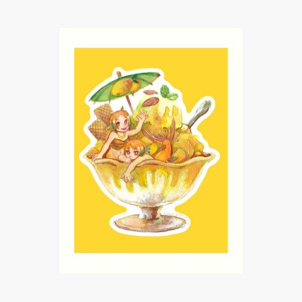Goldfish Mango Ice Art Print
