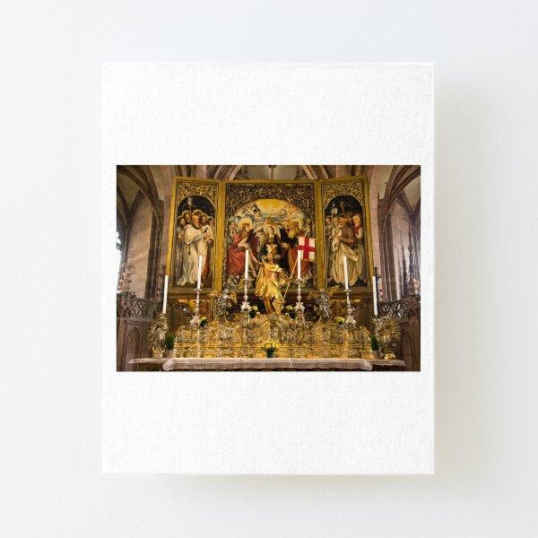 Altar im Freiburger Münster Aufgezogener Druck auf Leinwandkarton