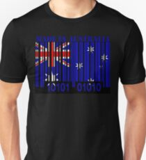 Australia Barcode Flag Made In... T-Shirt