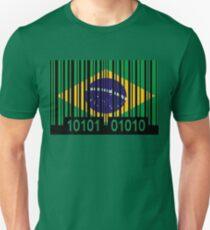 Brasil Barcode Flag T-Shirt