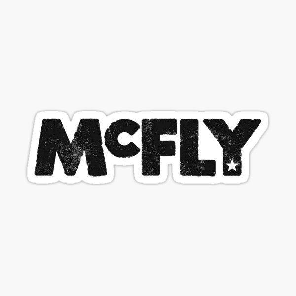 McFly Logo (black) Sticker