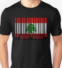 Lebanon Barcode Flag T-Shirt