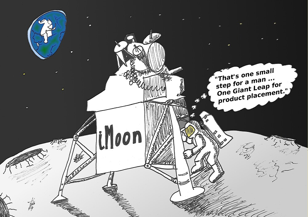 Neil Armstrong and the iMoon publicity vehicle by Binary-Options