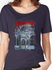 Sultan Ahmed Blue Mosque in Istanbul, Turkey Women's Relaxed Fit T-Shirt