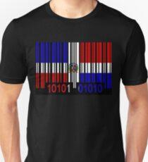 Dominican Republic Barcode Flag T-Shirt
