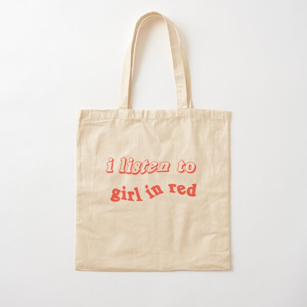 i listen to girl in red  Cotton Tote Bag