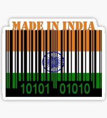 India Barcode Flag Made In... Sticker