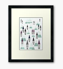 VILLAGE ON WINTER Framed Print