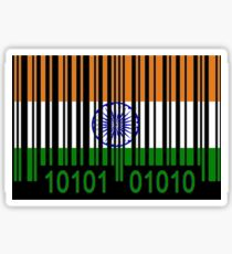 India Barcode Flag  Sticker