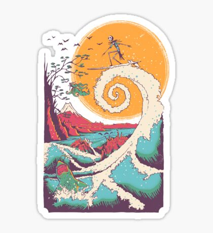 Surf Before Christmas Sticker