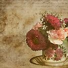 Vintage Cup of Flowers by Trudy Wilkerson