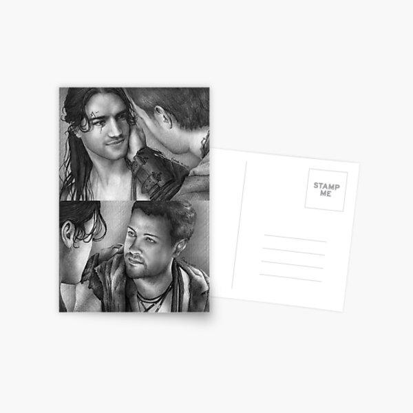 Erster Kuss von Nagron (Spartacus) Postkarte