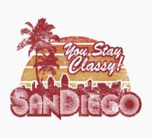 You Stay Classy! San Diego - Worn look | Unisex T-Shirt