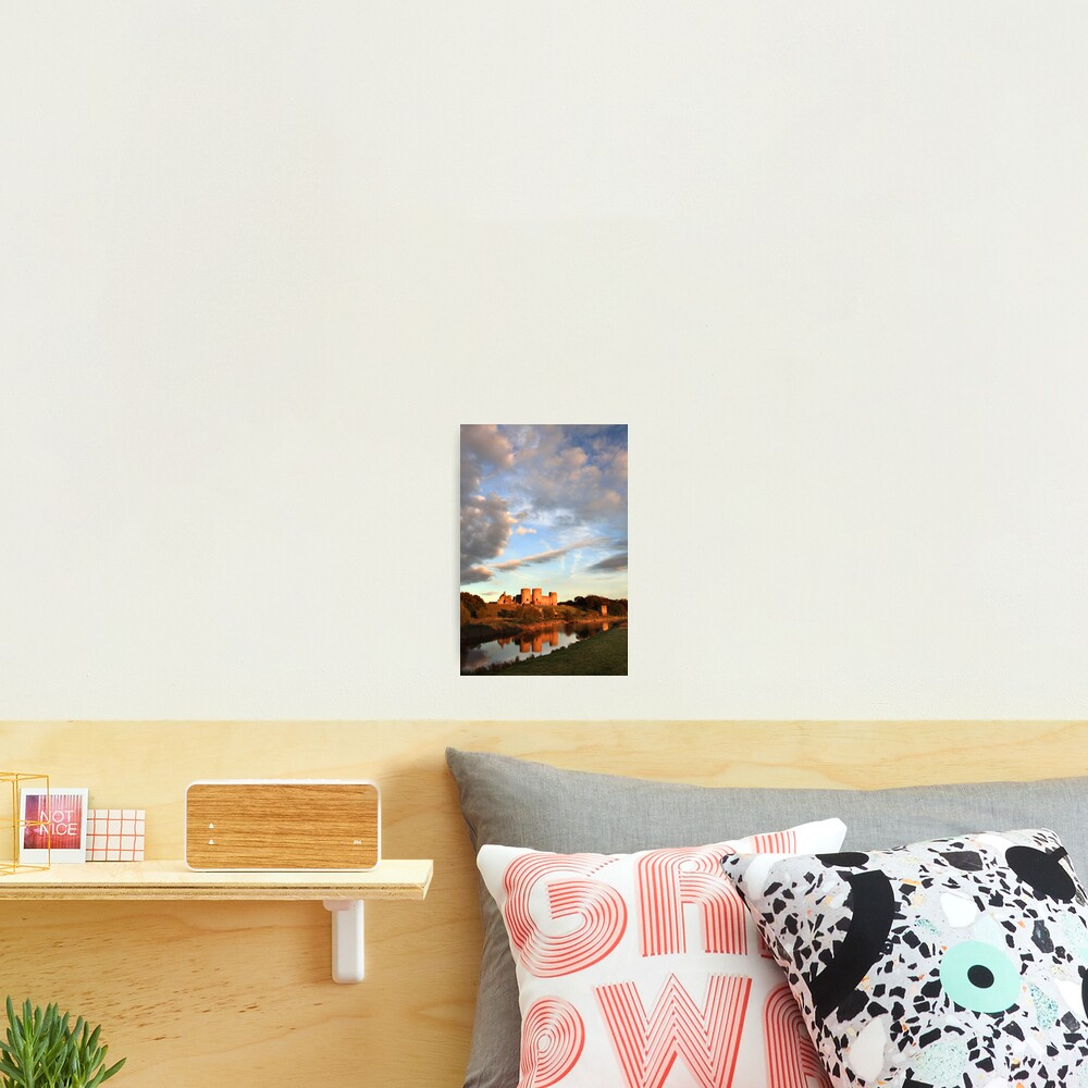 Clouds Over Rhuddlan Castle Photographic Print