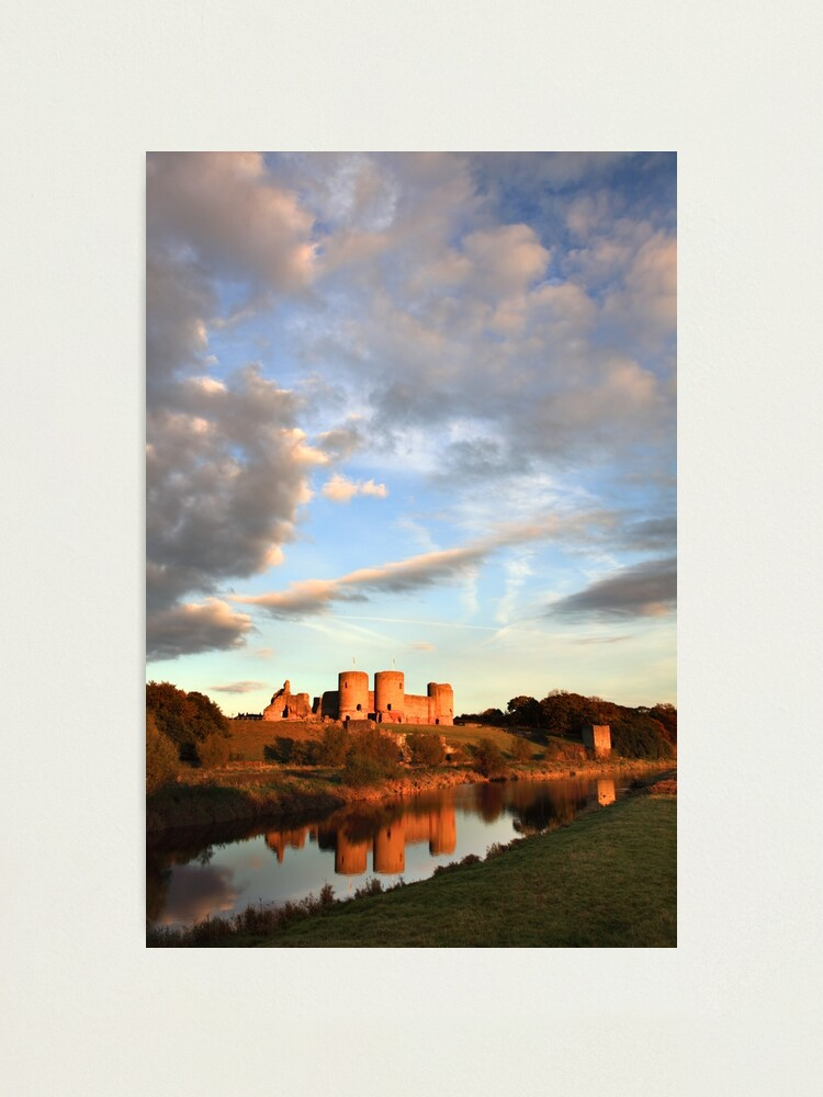 Alternate view of Clouds Over Rhuddlan Castle Photographic Print