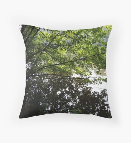 Where the leaves end and water begins... Throw Pillow
