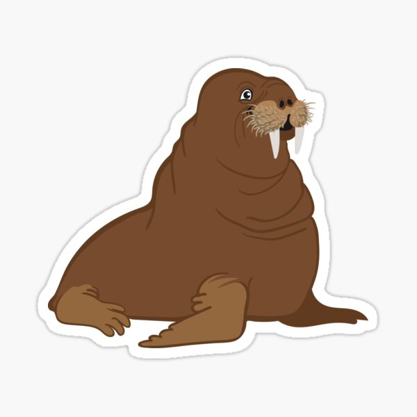 Now That's a Handsome Walrus Sticker