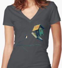 Flying Bird...house Shirt mit V-Ausschnitt