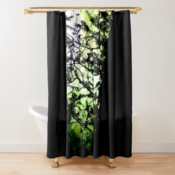 Shadows of the Yew Shower Curtain