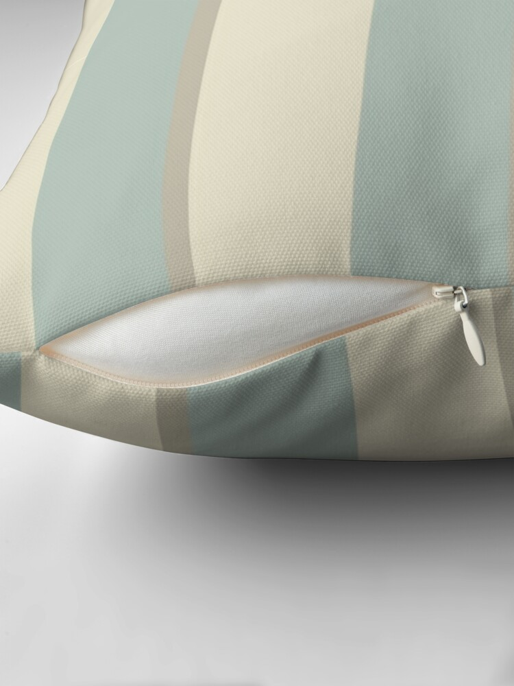 Alternate view of Georgian Stripe Eau de Nil Throw Pillow
