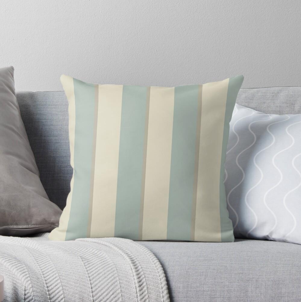 Georgian Stripe Eau de Nil Throw Pillow