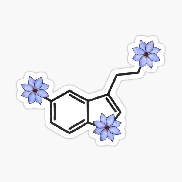 Serotonin - Blue floral Sticker