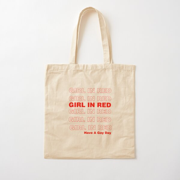 have a gay day girl in red  Cotton Tote Bag