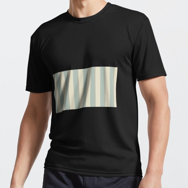 Georgian Stripe Eau de Nil Active T-Shirt