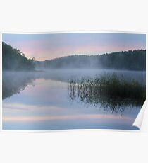 Dawn at the Lake Seliger Poster
