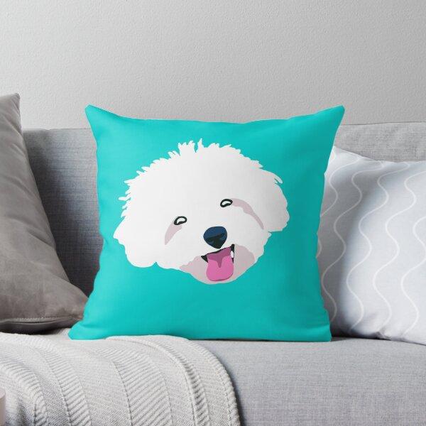 Smiling Bichon Frise  Throw Pillow