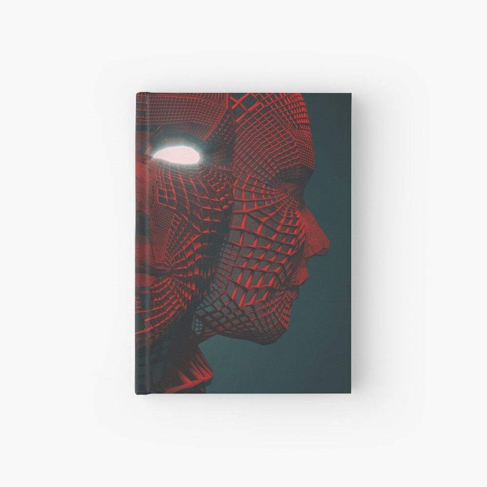 3 RED FACE Hardcover Journal