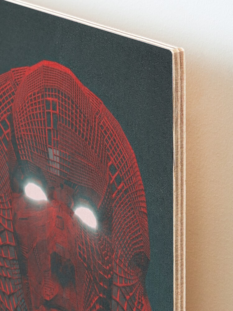 Alternate view of 3 RED FACE Mounted Print