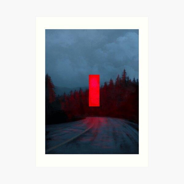 Red Monolith Art Print
